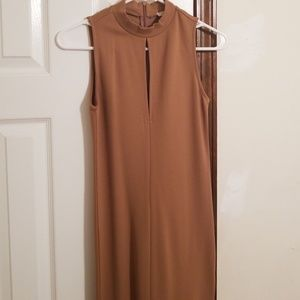 Forever21 bodycon camel dress XS